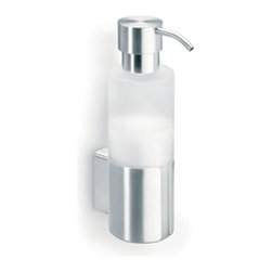 Blomus - TARRO Soap Dispenser - Wall Mounted - Bathroom space is a precious thing. To maximize space effectively means to be creative in arrangement and organization. The TARRO Soap Dispenser is the perfect solution to those limited on space. Not only does it mount to your wall so you'll save on counter-top space, but its minimalist, modern design exudes a clean, elegant aesthetic. Smartly designed satinized glass dispenser allows you to know exactly when to refill.