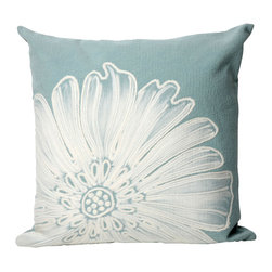 """Trans-Ocean - 20""""x20"""" Visions II Antique Medallion Aqua Pillow - The highly detailed painterly effect is achieved by Liora Mannes patented Lamontage process which combines hand crafted art with cutting edge technology.These pillows are made with 100% polyester microfiber for an extra soft hand, and a 100% Polyester Insert.Liora Manne's pillows are suitable for Indoors or Outdoors, are antimicrobial, have a removable cover with a zipper closure for easy-care, and are handwashable. Made in USA."""