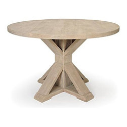 M. Dickson Dining Table - This rustic table would add warmth and charm to an all-white kitchen.