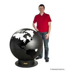 """Third Rock Fire Pit - The Third Rock Fire Pit Globe will change the atmosphere of your outdoor living space. This Fire Pit Globe is new the line of hand made fire pits. Have you ever felt constrained by the small and frail fire pits found throughout the market? If so, then this fire pit could be the one for you. Constructed from ¼"""" thick steel assures you of having this functional art for many years to come. They have a standard iron oxide patina or optional high temperature paint finish on the outside. The iron oxide patina will darken a little with time then become permanent. The inside is coated with a high temperature resistant paint and has a rain drain in the bottom."""