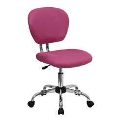 Flash Furniture - Flash Furniture Mid-Back Mesh Task Chair in Pink - Flash Furniture - Office Chairs - H2376FPINKGG - This value priced mesh task chair will accommodate your essential needs for your home or office space. This chair will add a splash of color to your office for a non-traditional look.