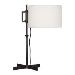 Robert Abbey - Robert Abbey Max Adjustable Shade Table Lamp Z2850 - Deep Patina Bronze Finish
