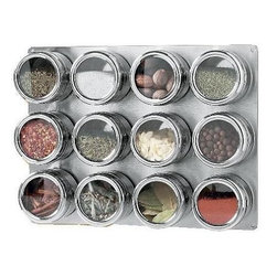 Click Magnetic Spice Rack - Hold office supplies in spice racks.