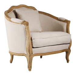 Zentique - Maison Love Chair - Incredible comfort meets classic style in this curvy armchair — an elegant addition to your traditional decor. The sensuous shape and ample linen upholstery invite you to settle in and really relax.