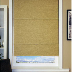 Chicology Jamaican Antique Gold Mag Roman Shade 33x64
