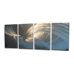 Miles Shay - Metal Wall Art Decor Abstract Contemporary Modern Sculpture- Tempest Silver - This piece is all silver. Any visible color is a reflection of objects in the room.