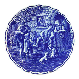 Boch - Consigned Vintage Blue Delft Plate Charger Boch Jolly - Product Details