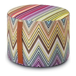 Missoni Home - Kew Coral Cylinder Pouf | Missoni Home - Design by Rosita Missoni.
