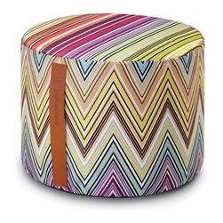 Missoni Home - Missoni Home | Kew Coral Cylinder Pouf - Design by Rosita Missoni.