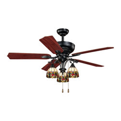 "Vaxcel - Vaxcel French Country 52"" Ceiling Fan - French Country 52"" Ceiling Fan Oil Shale"