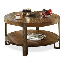 Riverside Furniture - Sierra Round Cocktail Table - Fixed bottom shelf