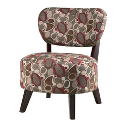 Coaster - Coaster Chair with Padded Seat in Dark and Light Floral Fabric - Coaster - Accent Chairs - 900425 - Spice up any room in your home with this attractive accent chair. The piece carries a beautiful pattern and features dark brown wood legs for a clean contemporary look. There will be lots to like with this accent chair in your home. Sit back and relax in this wonderful chair from Coaster.