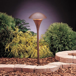 Kichler - Kichler Eclipse Outdoor Landscape Lighting Fixture in Red - Shown in picture: Path & Spread 1-Lt 120V in Textured Tannery Bronze
