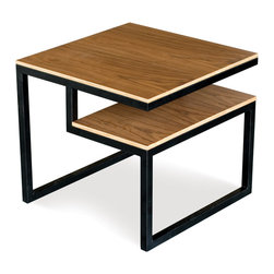 Gus Modern - Gus Modern Ossington End Table - Split your scene with this elegant little end table. Fine-grained surfaces and a blackened stainless steel frame evoke a vibe of casual cool and effortless style.