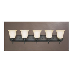 """Designers Fountain - Designers Fountain 96905 Five Light Up Lighting 36.5"""" Wide Bathroom Fixture from - Features:"""