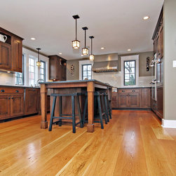 """Craftsman-Style Home Chicago - Wide plank White Oak solid 3/4"""" wood flooring mill direct from Hull Forest Products. Price shown is for plank widths of 6-8 inches."""