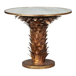 Bungalow 5 - Athena Center Table by Bungalow 5 - ATHENA CENTER / DNING TABLE GOLD LEAF: MIRROR TOP