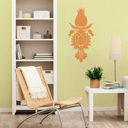Tulip Floral Flourish Vinyl Wall Decal - Tulip motifs have been used for centuries in Ottoman Textile designs. Bring these classic, dainty, and elegant flower graphics into your home with our Tulip Floral Flourish Vinyl Wall Decal from Wallternatives!