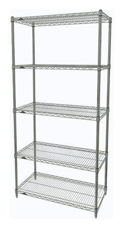 InterMetro Industries - Metro Shelving Unit - 48x18x74 Chrome - As the original wire storage shelving system and still the industry leader, Metro shelving continues to evolve and aims to meet the diversity of todays storage challenges. These professional grade units hold more weight. The five (5) shelves can be positioned, or re-positioned, at precise 1 increments along the length of the posts.  Open wire design minimizes dust accumulation and allows for free circulation of air and greater visibility of stored items. Casters (sold separately) available for mobile applications. This post-based shelving system, created in 1965, is recognized worldwide as the most popular commercial shelving system ever.  Assembly required