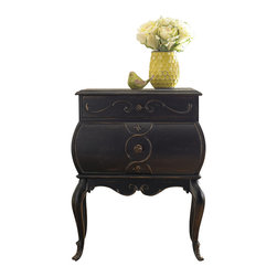 """Hooker Furniture - Hooker Furniture Bombe Accent Chest - Add high class to your room with this Bombe Accent Chest. Hardwood Solids, Oak Veneers & Resin. Dimensions: 25.25""""W x 16.75""""D x 32""""H."""