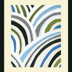 Amanti Art - Jodi Fuchs 'Swirly Bob II' Framed Art Print 23 x 27-inch - A fresh, contemporary choice for any room, this cool and lively art print by Jodi Fuchs will infuse your decor with a modern flair.