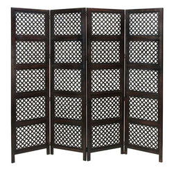 Benzara - Hinged Wood 4 Panel Screen - Do have passion for decoration? If yes, why do you limit this hobby just to the drawing room or garden? Some other spots too in the house need your attention. Bring home the best of decorative protection and privacy screens to bring completeness to existing decor. Just have a look over 34010 Wood 4 PANEL SCREEN