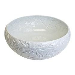 Hand Carved Porcelain Leaves Bowl - Linkasink -