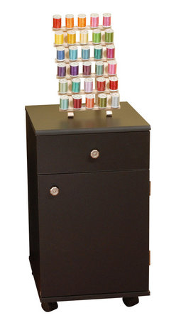 Arrow Sewing Cabinet - Arrow Sewing Cabinets 803 Suzi, Four Drawer Sewing Storage Cabinent, Black - Your Suzi Storage cabinet has a durable design with composite construction and a vinyl laminate in colors to match every cabinet. Create a matching set in your sewing room, by adding Suzi to any Arrow cabinet Suzi is made of the same material Arrow cabinets are made of, so she will match any existing Arrow cabinet you have. Youll find plenty of storage with four drawers for all your sewing notions Drawer stops prevent Suzis drawers from pulling out too far, but each drawer will glide effortlessly on slides allowing you to reach hard to find items in the back.Need Suzi close at hand or need her out of the way.Suzi will roll in and out of place on her four casters allowing you to place her where ever she is needed the most.