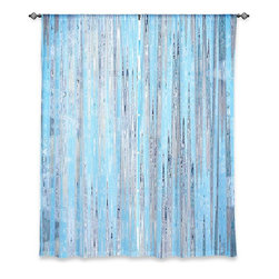 """DiaNoche Designs - Window Curtains Lined by Iris Lehnhardt - Correlation IV - DiaNoche Designs works with artists from around the world to print their stunning works to many unique home decor items.  Purchasing window curtains just got easier and better! Create a designer look to any of your living spaces with our decorative and unique """"Lined Window Curtains."""" Perfect for the living room, dining room or bedroom, these artistic curtains are an easy and inexpensive way to add color and style when decorating your home.  This is a woven poly material that filters outside light and creates a privacy barrier.  Each package includes two easy-to-hang, 3 inch diameter pole-pocket curtain panels.  The width listed is the total measurement of the two panels.  Curtain rod sold separately. Easy care, machine wash cold, tumble dry low, iron low if needed.  Printed in the USA."""