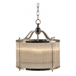 Ridged Glass Pendant Light