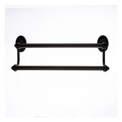 Top Knobs - Top Knobs: Tuscany Bath 18 Inch Double Towel Rod - Oil Rubbed Bronze - Top Knobs: Tuscany Bath 18 Inch Double Towel Rod - Oil Rubbed Bronze