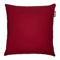 Fatboy - 39 in. Pillow in Red - Filled with comfortable, high quality foam. Oversized and comfortable floor cushion. Cover is machine washable at 86°F. Soft and durable fabric outer. Made from 100% stonewashed cotton. 39 in. W x 8 in. D x 39 in. H (7 lbs.)Im everything youd want out of a pillow. Im soft enough to play well with the couch when you need me to and still sturdy enough to survive the floor on my own. Might it be too bold to say Im the perfect pillow? Maybe, but bold is kind of the name of the Fatboy game.