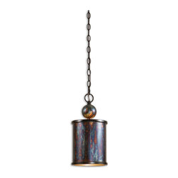 Uttermost - Uttermost Albiano 1 Lt Mini Pendant w/ Metallic Oxidation - 1 Lt Mini Pendant w/ Metallic Oxidation belongs to Albiano Collection by Uttermost Complex tonalities of metallic oxidation enrich these classic, simple shapes. Mini Pendant (1)