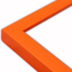 The Frame Guys - Narrow Flat Orange Picture Frame-Solid Wood, 11x17 - *Narrow Flat Orange Picture Frame-Solid Wood, 11x17