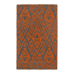 Kaleen - Kaleen Evolution Collection Evl02-89 3'X5' Orange - The Evolution collection completely embraces the history of classic elegance and traditional expertise of Kaleen Rugs, while perfectly capturing the evolving high fashion and hot new trends of today's design. Dramatic patterns showcasing precise attention to details and a unique twist of color will add the perfect addition to your home. Each rug is Hand-Tufted in India with a 100% soft and luxurious wool.