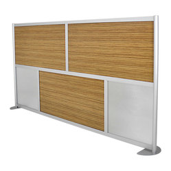 "LOFTwall - LOFTwall Low Height Room Partition LW83LH - The LOFTwall Low Height Room Partition is 53"" tall and two wide panels across. Perfect for office privacy, this room divider is available in a variety of mix-and-match panel colors. Made from aluminum, with 12"" feet for stability."