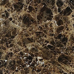 "Emperador Dark Polished Marble Floor & Wall Tiles - 18"" x 18"" - With its dramatic veining and its rich brown coloration, this 18"" x 18"" Emperador Dark Marble Floor and Wall Tile is a great way to enhance your decor with a traditional aesthetic touch. This polished tile is constructed from durable, impervious marble material, comes in a smooth, unglazed finish and is suitable for installation on floors, walls and countertops in commercial and residential spaces such as bathrooms and kitchens."
