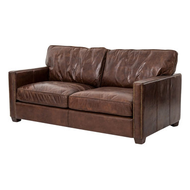 Marco Polo Imports - Ferdinand Sofa - Inspired by the libraries of Turn of the Century American aristocracy, this leather club chair is timelessly elegant. Made from the finest, top-grain, aniline-dyed leather and an eight-stage hand-aging process that epitomizes quality craftsmanship. Available in Antique Brown.