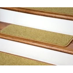 """Dean Flooring Company - Dean Serged DIY Carpet Stair Treads (13) - Camel Plush 27"""" X 9"""" - Dean Serged DIY Carpet Stair Treads (13) - Camel Plush 27"""" X 9"""" with Double-Sided Tape Included : Quality, Stylish Carpet Stair Treads by Dean Flooring Company. Extend the life of your high traffic hardwood stairs. Reduce slips/increase traction (treads must be properly secured to your stairs). Cut down on track-in dirt. Great for pets and pet owners. 100% nylon. Set includes 13 carpet stair treads PLUS one roll of double-sided carpet tape for easy, do-it-yourself installation. Each tread is serged (edges are finished) with color matching yarn (no frayed edges). Rounded corners. You may remove your treads for cleaning and re-attach them when you are done. This product is designed, manufactured, and sold exclusively by Dean Flooring Company. We do not sell our products for resale to any other retailers. Beware of purchasing unauthorized, counterfeit, inferior quality versions of our branded merchandise from other sellers. Add a touch of warmth and style to your stairs today with new stair treads from Dean Flooring Company!"""