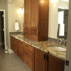Transitional Bathroom by Integri Kitchens