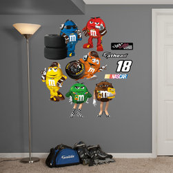 Fathead - Fathead Vinyl Wall Graphic - Kyle Busch M&Ms Real Big Team Set