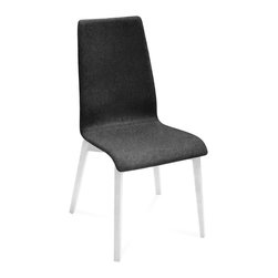 DomItalia Furniture - Jill-L Dining Chair in Dark Grey / White Matt (Set of 2) - Constructed from ashwood frame and wool, the Jill-L dining chair (set of 2) comes in White Matt Lacquer / Dark Grey finish. Ecological production process and quality Italian design ensure long-lasting comfort and durability.