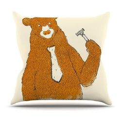 "KESS InHouse - Tobe Fonseca ""Work"" Brown Bear Throw Pillow, Outdoor, 16""x16"" - Decorate your backyard, patio or even take it on a picnic with the Kess Inhouse outdoor throw pillow! Complete your backyard by adding unique artwork, patterns, illustrations and colors! Be the envy of your neighbors and friends with this long lasting outdoor artistic and innovative pillow. These pillows are printed on both sides for added pizzazz!"