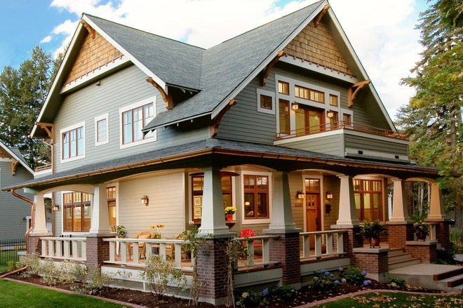 Craftsman Exterior by WW Builders Design/Build Associates