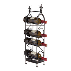 Duvaleix's 4 Bottle Wine Rack - Let those grape selections stand out in a crowd! Great stacked rack for featuring the companion wines for tonight's supper club. Park it where you want to impress.