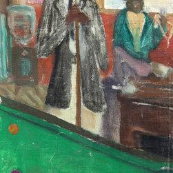 Andrew Turner, Pool Shark, Oil Painting - Artist:  Andrew Turner, American (1944 - 2001)