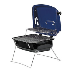 """Kay Home Products - 17"""" x 13"""" Contempo Charcoal Grill - Dual cooking surfaces; 263 sq inch total cooking surface"""