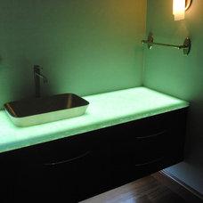 Modern Bathroom Lighting And Vanity Lighting by Canyon Construction