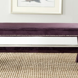 Safavieh - Safavieh Purple Nailhead X Bench - Choose furniture that works as hard as you do with this versatile nailhead bench. The stylish detailing and the vivid color make it a great accent piece, and the simple lines make it easy to pair with other items for use as a coffee table or bench.