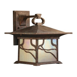Kichler - Kichler Morris 1-Light Distressed Copper Wall Lantern - 9027DCO - This 1-Light Wall Lantern is part of the Morris Collection and has a Distressed Copper Finish. It is Outdoor Capable.